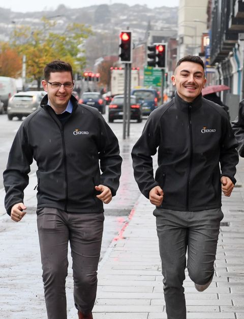 men running for charity